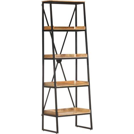 vidaXL 5-Tier Bookshelf Solid Mango Wood 60x39x180 cm - Brown