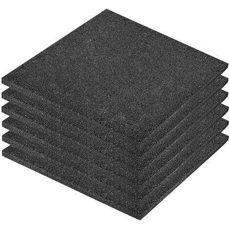 vidaXL 6/12/18/24x Losetas de Goma Protección de Caídas Jardín Exterior Terraza Patio Interior Aire Libre Diferentes Dimensiones Rojo/Negras