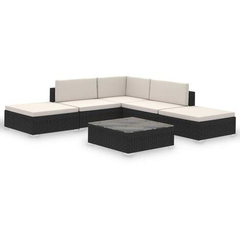 "main image of ""vidaXL Outdoor Lounge Set 15 Pieces Poly Rattan Furniture Seat Brown/Black"""