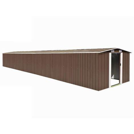 vidaXL Abri de Jardin Acier Galvanisé Hangar de Stockage d'Outils Cabane de Jardin Abri de Rangement Remise d'Extérieur Multicolore