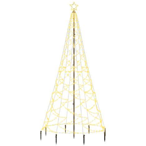 """main image of """"vidaXL Albero di Natale con Palo in Metallo 500 LED Bianco Caldo 3 m - Bianco"""""""