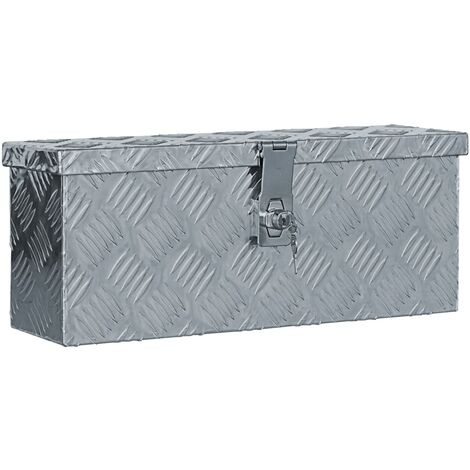 vidaXL Aluminium Anthracite Box Silver Trailer Drawbar Box Storage Chest Indoor Outdoor Organiser Trunk Home Furniture Multi Size Multi Model
