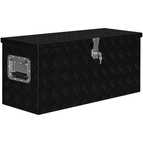"main image of ""vidaXL Aluminium Box 80x30x35 cm Black - Black"""