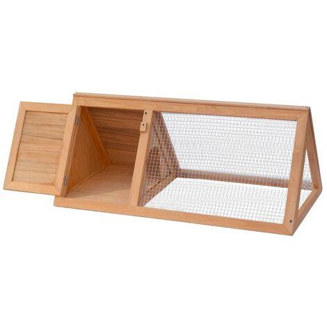 vidaXL Animal Rabbit Cage Wood - Brown