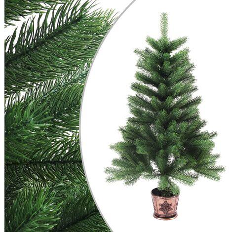vidaXL Árbol Artificial de Navidad con Hojas Realistas Adorno Navideño Decoración de Fiestas Pascuas Diciembre Verde Diferentes Alturas
