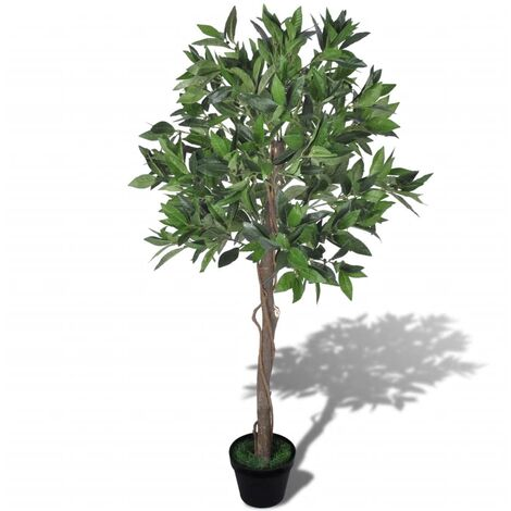 vidaXL Árbol de Laurel Artificial con Maceta Casa Jardín Decoración Hojas Macetero Planta Paisaje Fiesta Balcón Salón Comedor Verde 120cm/ 85cm/145cm