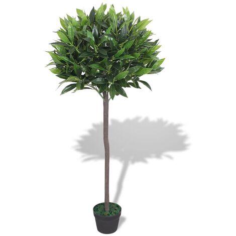 Árbol de laurel artificial con macetero 125 cm verde