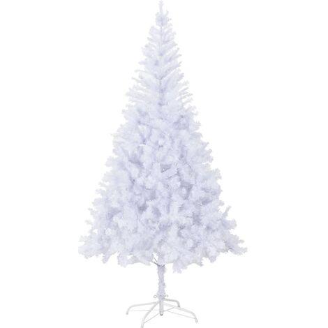 vidaXL Árbol de Navidad artificial con soporte acero 210 cm 1210 ramas - Blanco