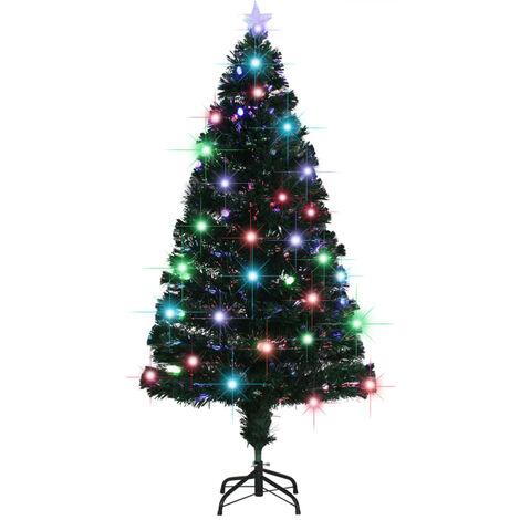 vidaXL arbol de Navidad artificial con soporte/LED 150 cm 170 ramas