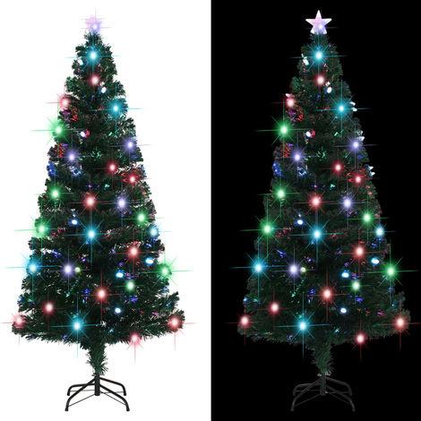 vidaXL arbol de Navidad artificial con soporte/LED 180 cm 220 ramas