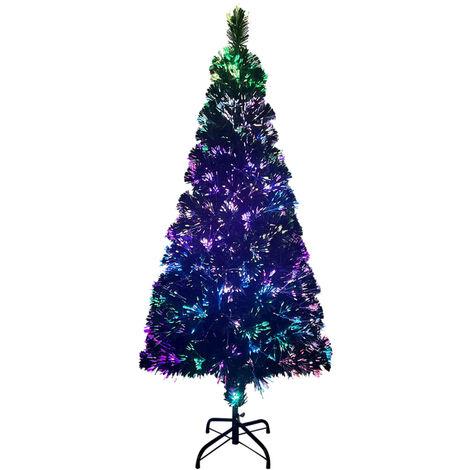 """main image of """"vidaXL Árbol de Navidad artificial y soporte verde fibra óptica 180 cm - Verde"""""""