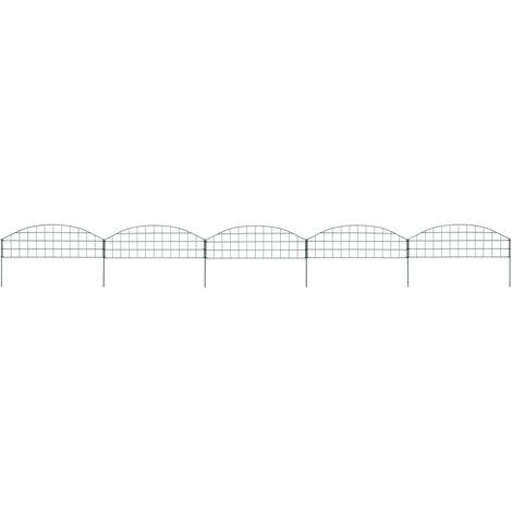 vidaXL Arched Pond Fence Set 77.3x26 cm Green - Green