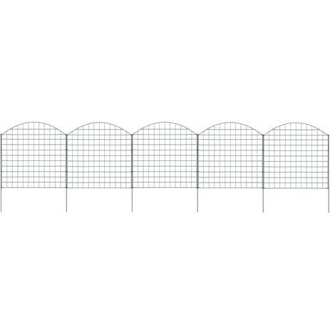 vidaXL Arched Pond Fence Set 77.5x78.5 cm Green - Green
