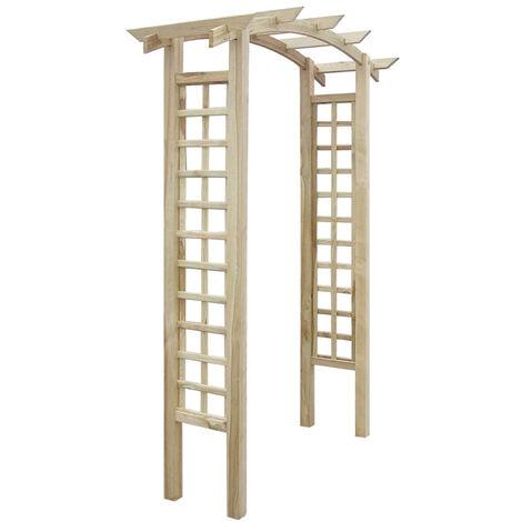 vidaXL Arco enrejado de jardin madera FSC 150x50x220 cm
