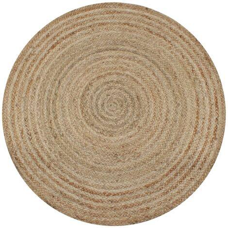 vidaXL Area Rug Braided Jute Round Living Room Floor Carpet Mat Multi Sizes