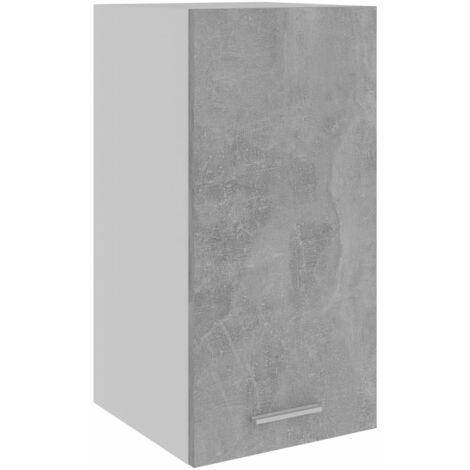 vidaXL Armario colgante cocina aglomerado gris hormigón 29,5x31x60 cm - Gris