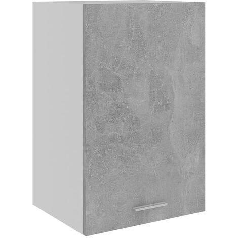 vidaXL Armario colgante cocina aglomerado gris hormigón 39,5x31x60 cm - Gris