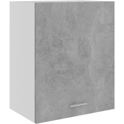 vidaXL Armario colgante de cocina aglomerado gris hormigón 50x31x60 cm - Gris