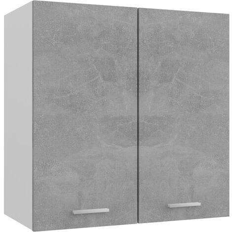 vidaXL Armario colgante de cocina aglomerado gris hormigón 60x31x60 cm - Gris