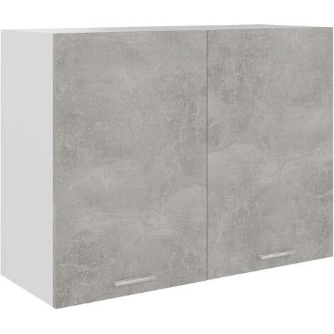 vidaXL Armario colgante de cocina aglomerado gris hormigón 80x31x60 cm - Gris