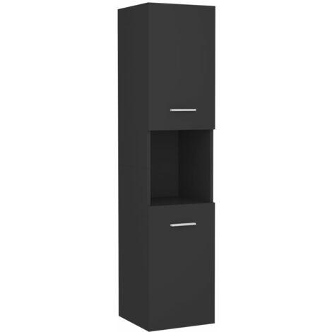 vidaXL Armario de cuarto de baño aglomerado gris 30x30x130 cm - Gris