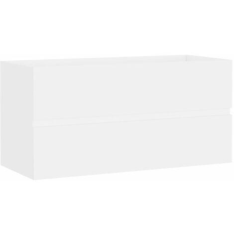 vidaXL Armario para lavabo aglomerado blanco 90x38,5x45 cm - Blanco