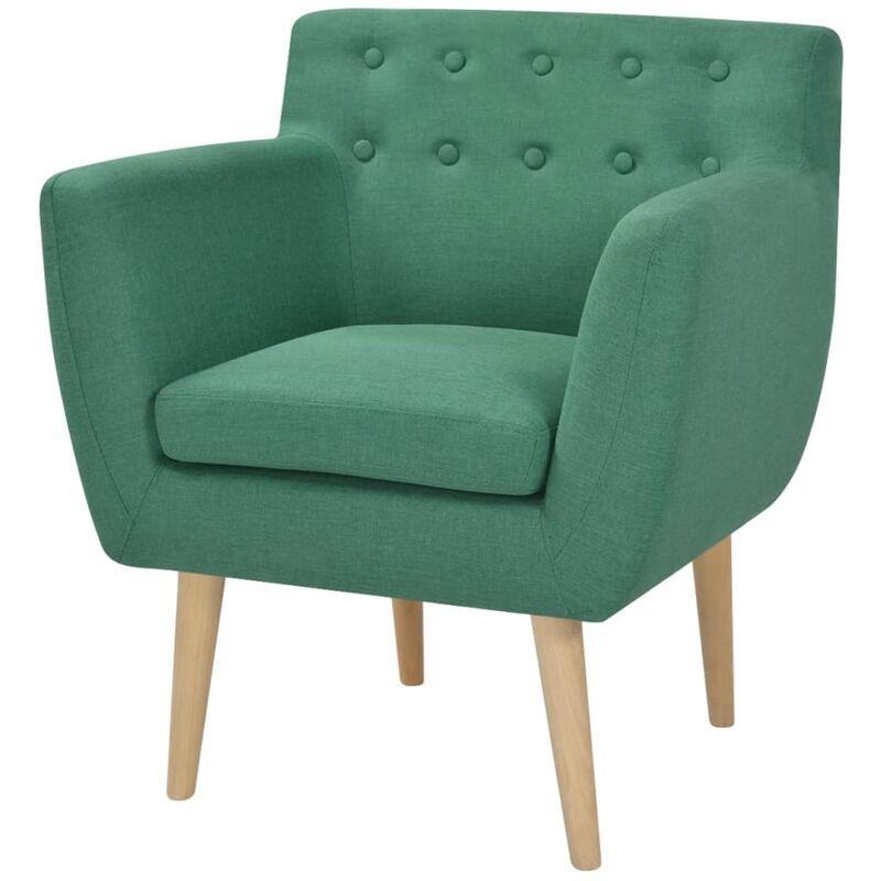 Sessel Stoff Grün - VIDAXL