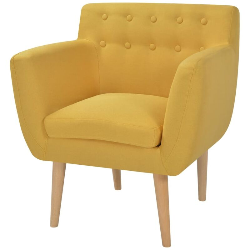 Vidaxl - Sessel Stoff Gelb