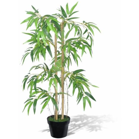 """main image of """"vidaXL Artificial Bamboo Plant Twiggy with Pot Realistic Fake Floral Plant Indoor Living Room Decoration Plastic Greenery 80 cm/90 cm"""""""