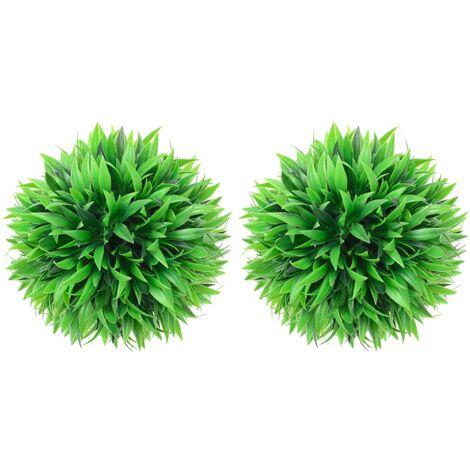 vidaXL Artificial Boxwood Balls 2 pcs 20 cm - Green