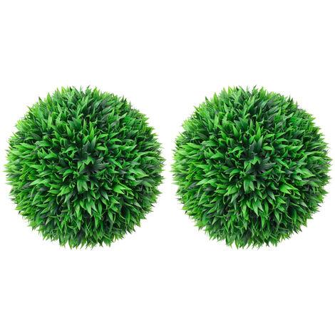 vidaXL Artificial Boxwood Balls 2 pcs 38 cm - Green