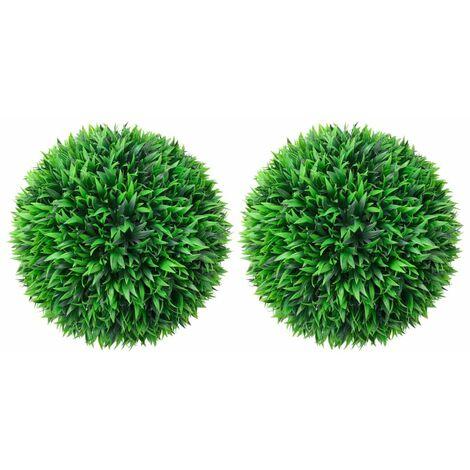vidaXL Artificial Boxwood Balls 2 pcs 47 cm - Green