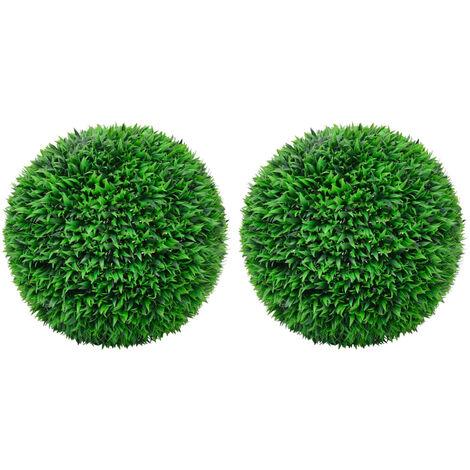 vidaXL Artificial Boxwood Balls 2 pcs 55 cm - Green