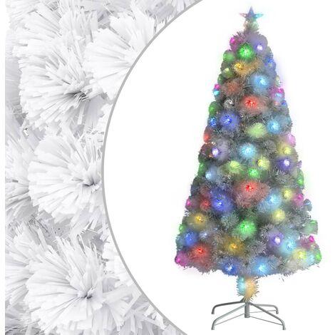 "main image of ""vidaXL Artificial Christmas Tree with LED White 120 cm Fibre Optic"""