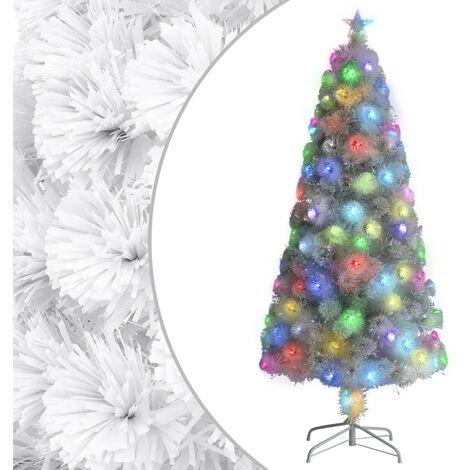 "main image of ""vidaXL Artificial Christmas Tree with LED White 150 cm Fibre Optic"""