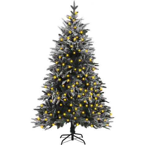 "main image of ""vidaXL Artificial Christmas Tree with LEDs&Flocked Snow 180 cm PVC&PE"""