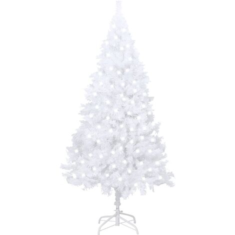 """main image of """"vidaXL Artificial Christmas Tree with LEDs&Thick Branches White 120 cm"""""""