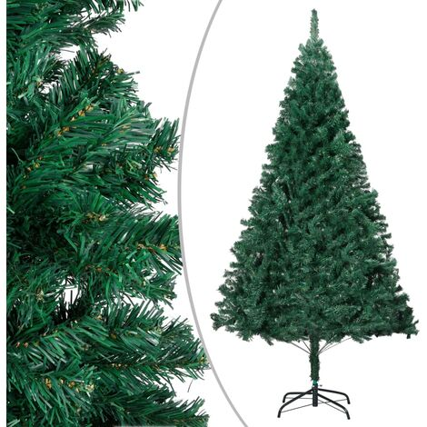 vidaXL Artificial Christmas Tree with Thick Branches Green 180 cm PVC - Green