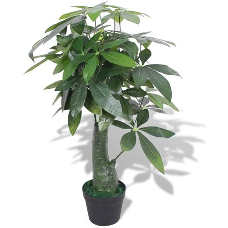 vidaXL Artificial Fortune Tree Plant with Pot Home Garden Patio Backyard Balcony Terrace Lifelike Fake Realistic Flora Green Multi Sizes