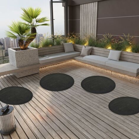 """main image of """"vidaXL Artificial Grass with Studs Dia.95 cm Anthracite Round - Anthracite"""""""
