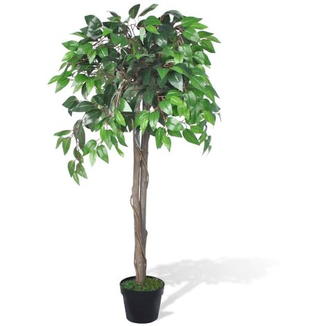 """main image of """"vidaXL Artificial Dwarf Ficus with Pot Artificial Flowers Trees Fake Plant Indoor Living Room Decoration Plastic Greenery Multi Size"""""""