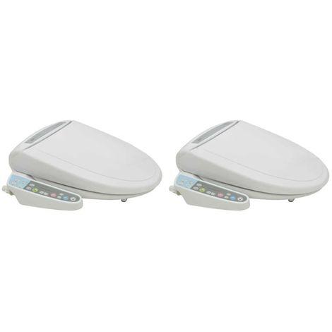 vidaXL Asiento electronico de bano bidet automatico 2 unidades
