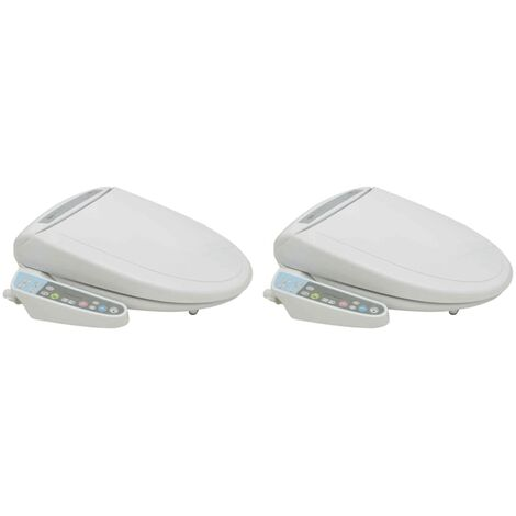 vidaXL Asiento electrónico de baño bidet automático 2 unidades - Blanco