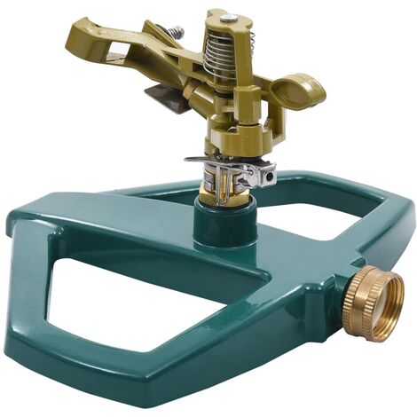 """main image of """"vidaXL Aspersor giratorio metal verde 21x22x13 cm - Verde"""""""
