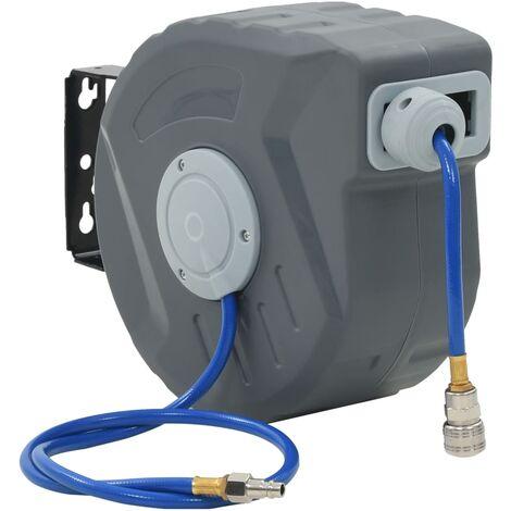 "main image of ""vidaXL Automatic Air Hose Reel Swivelling Mounter Hose Box Automatic Pneumatic Hose Reel Rewind Control Workshop Compressor Tool 1/4""/3/8"" Fitting"""