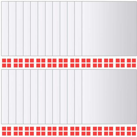 vidaXL Azulejos de espejo 24 unidades cuadrados vidrio - Plateado