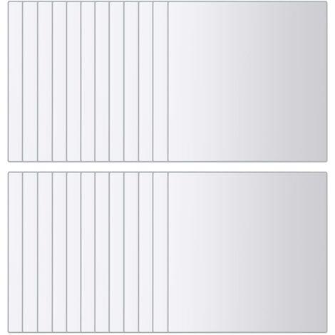 vidaXL Azulejos de espejo 48 unidades cuadrados vidrio - Plateado