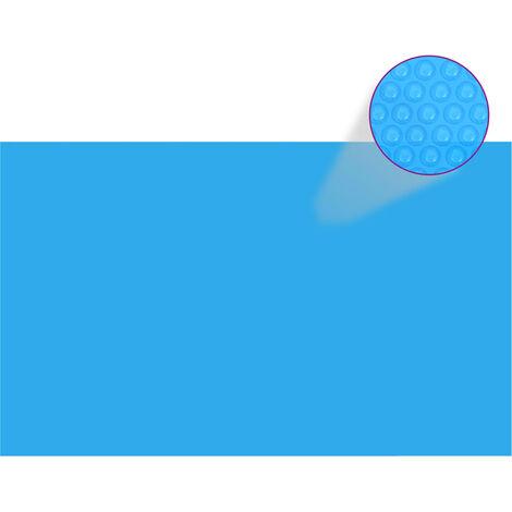 vidaXL Bâche de Piscine PE Film Solaire de Piscine Housse Protection de Piscine Protecteur de Couverture Extérieur Multi-taille Bleu/Noir