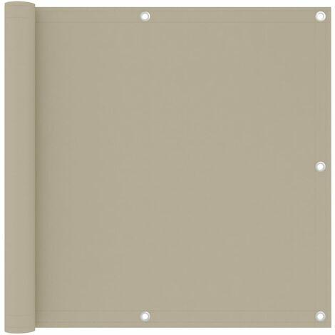 "main image of ""vidaXL Balcony Screen Beige 90x300 cm Oxford Fabric - Beige"""