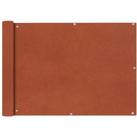 vidaXL Balcony Screen Oxford Fabric 75x400 cm Terracotta - Orange